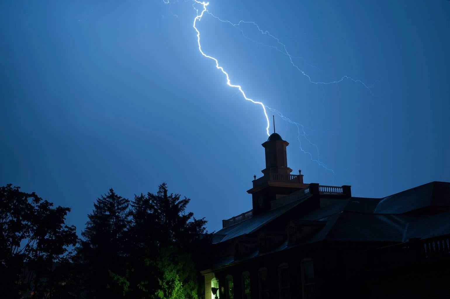 One of the most intense lightning storm's I have seen in awhile in my hometown. Was able to capture a couple from the storm.