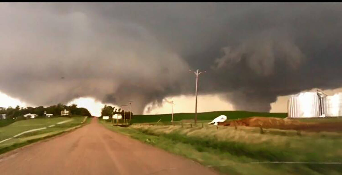One year ago today (6/16/14), we witnessed four EF-4 tornadoes in Nebraska, including these monster twins that sadly destroyed the town of Pilger, NE. A third circulation tried producing yet another tornado, but stayed just off the ground. Certainly a day I'll never forget.