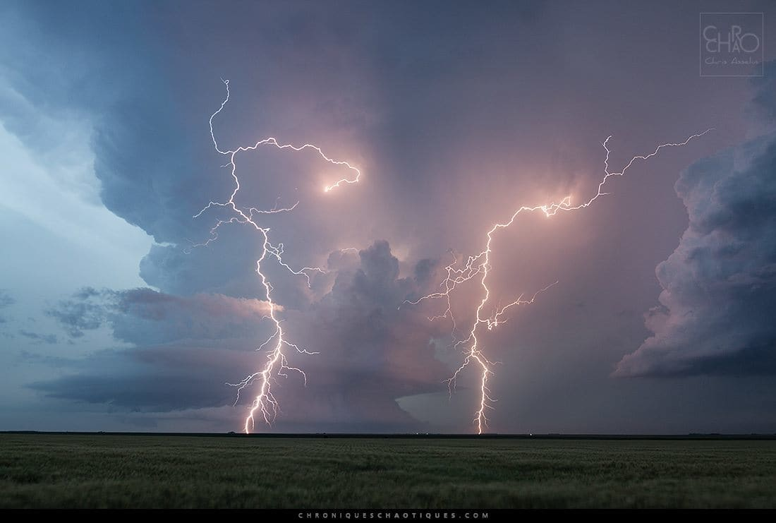 What a nice lightning show on June 4th under that Kansas supercell. It kind of made up for the tornado fest we missed in Colorado...