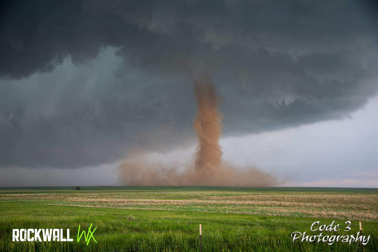Beautiful Anticyclonic Tornado near Simla, Co on 6-4-15. — with Joseph Barton Comstock.
