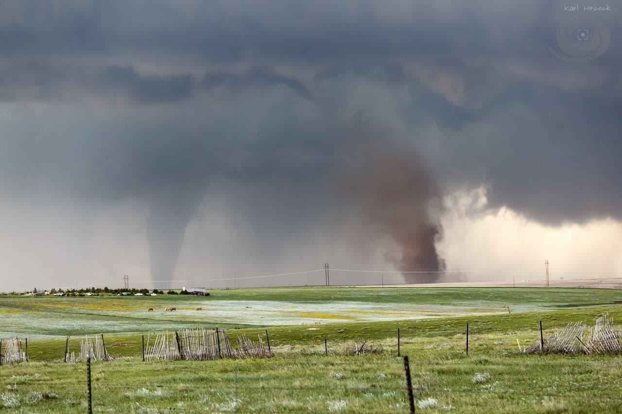 Finally back home and editing. My view of the Simla Tornadoes a couple weeks ago.