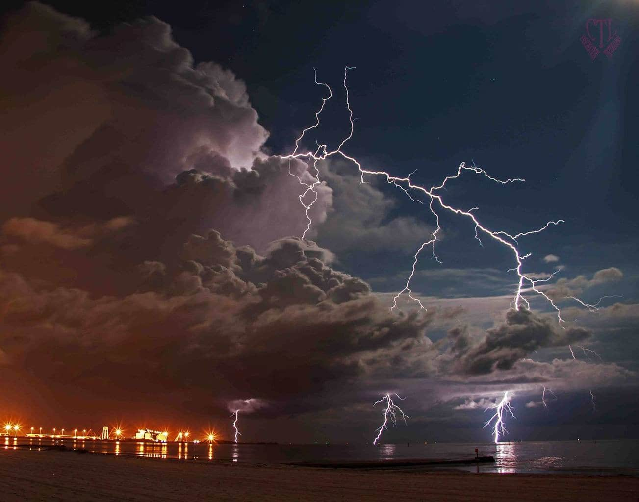 Gulfport, MS---June 1, 2015...storm came out of nowhere building right in front of my hotel