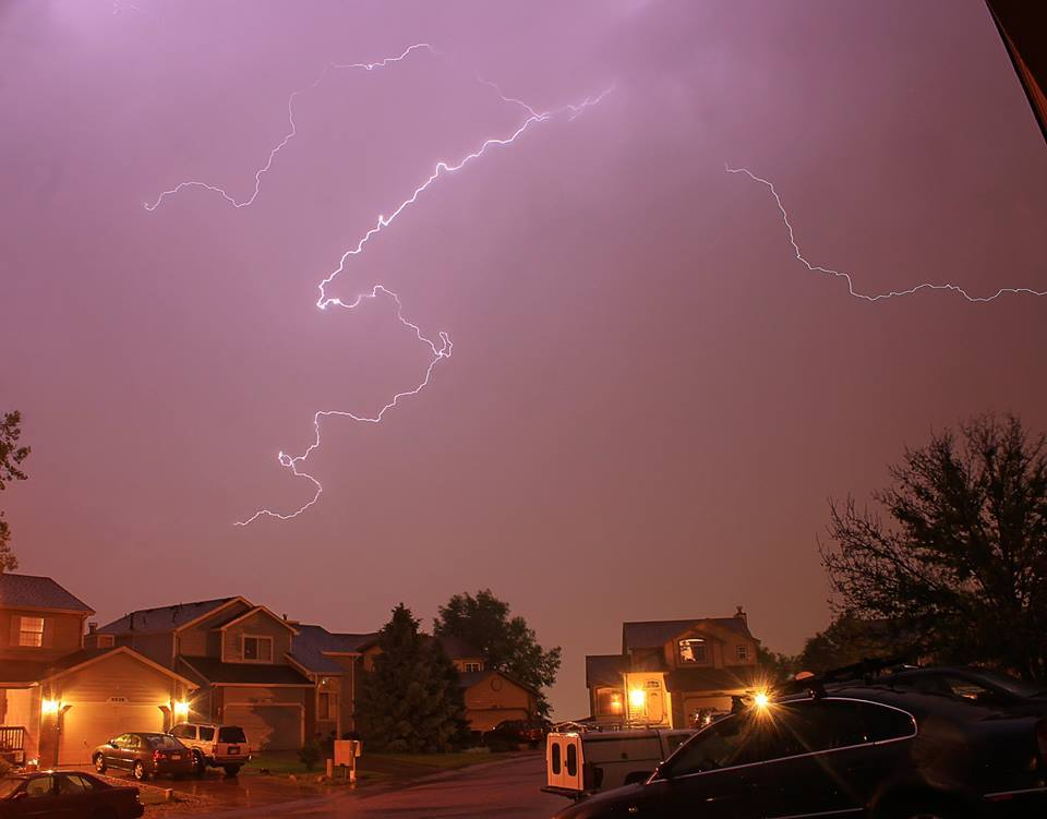 Storms over my neighborhood. The weather was intense tonight