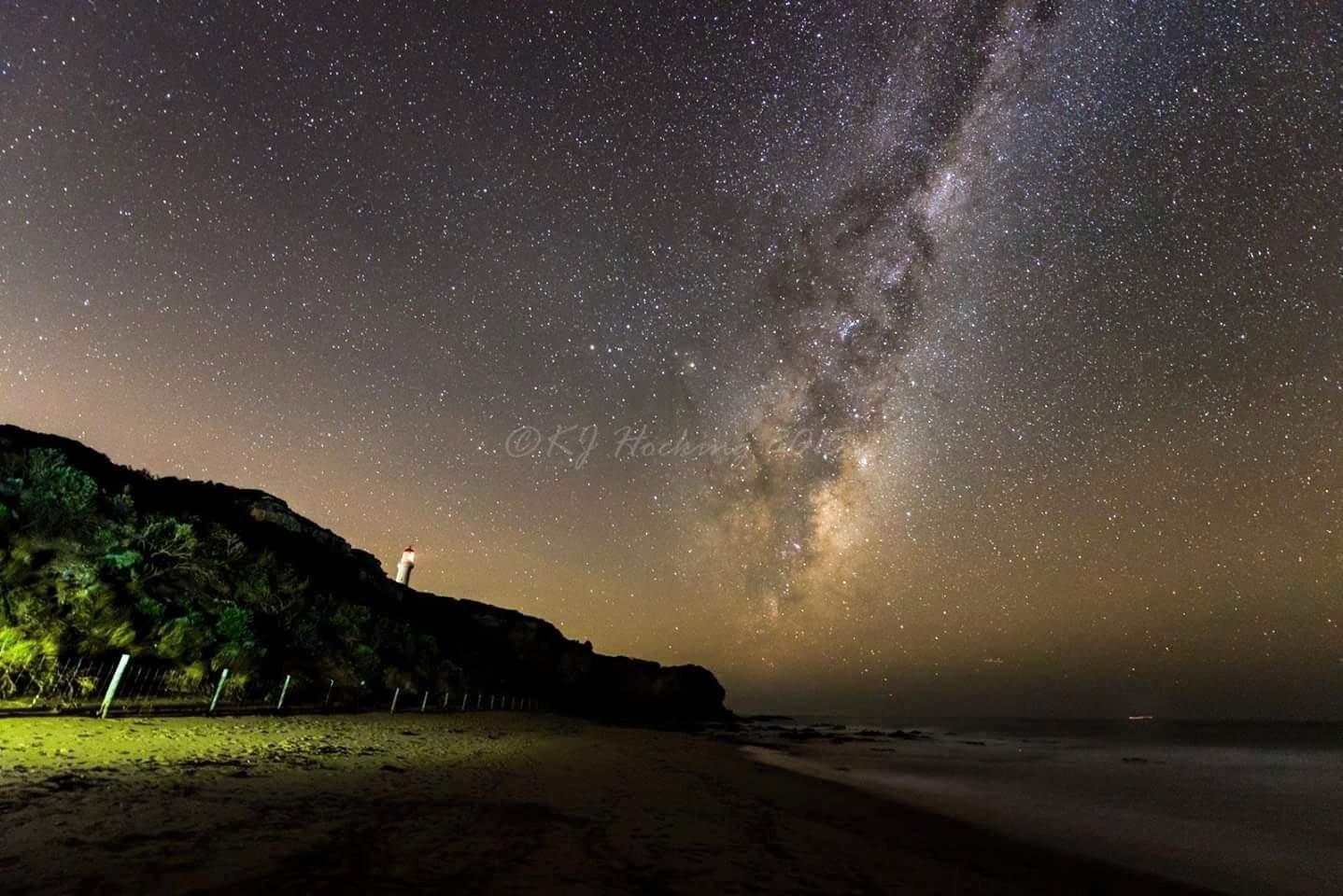Milky Way, Great Ocean Road Australia. Cheers, Kathryn.