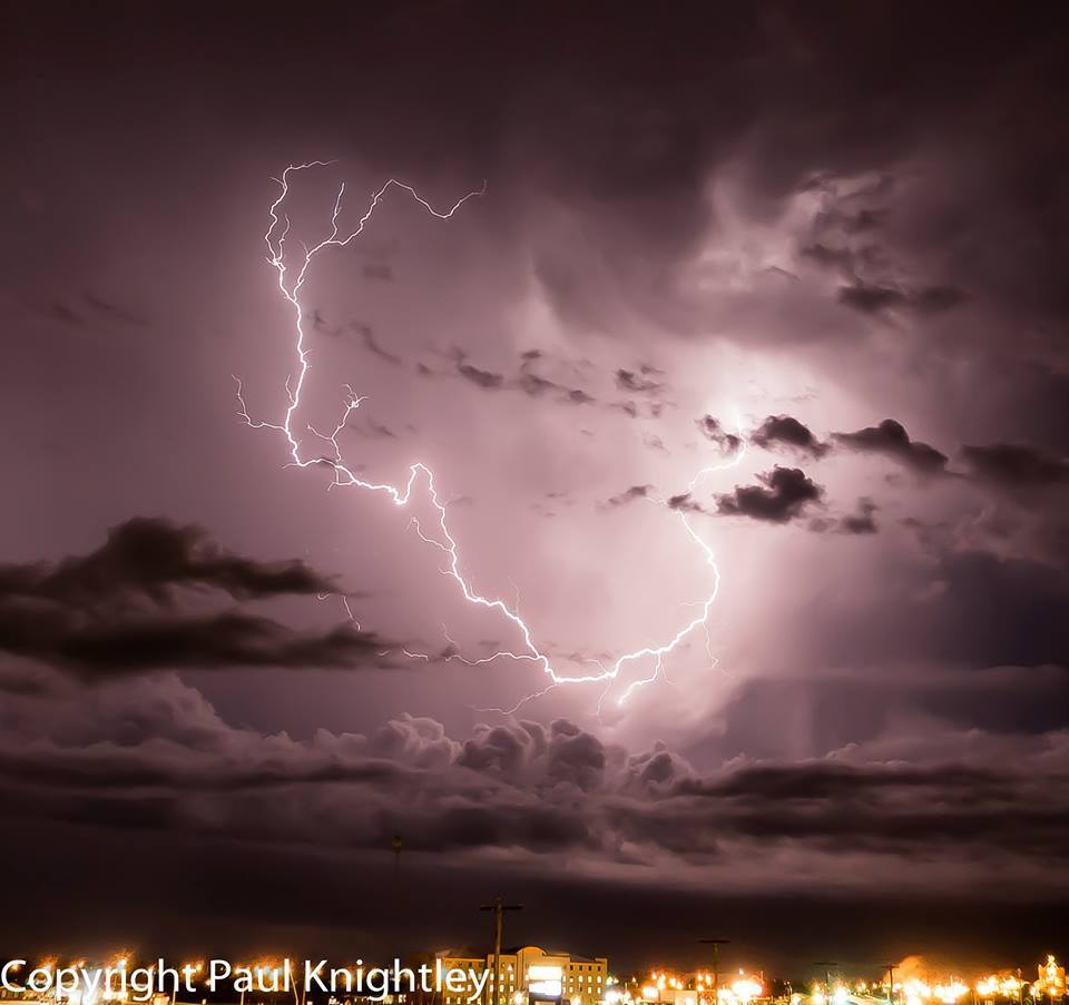 Cropped and processed lightning shot from Garden City, KS, around 1am CDT on May 25th this year.