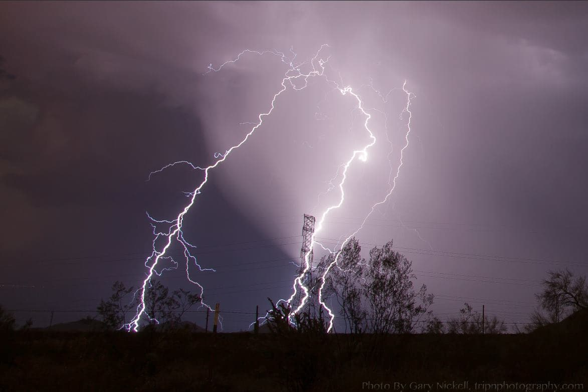 Just Love the AZ Monsoons. A bit of a surprise storm last nigh brought a beautiful show.
