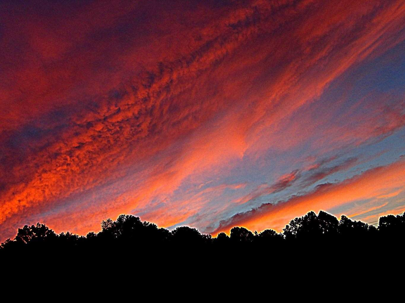 Evening sky in Southern Indiana was colorful this evening =]
