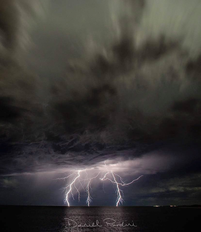 Missing these days, night time electrical storms quite common than daytime storms in Perth, Western Australia in the summer . Taken around midnight off a groyne in Mindarie keys Early April