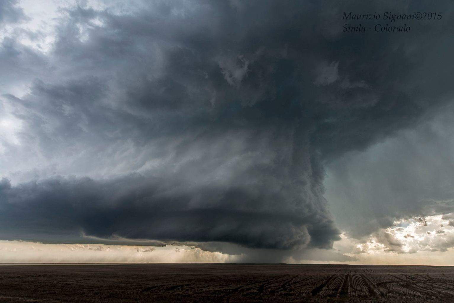 The structure of the Simla tornadic supercell, Colorado. 4th June 2015