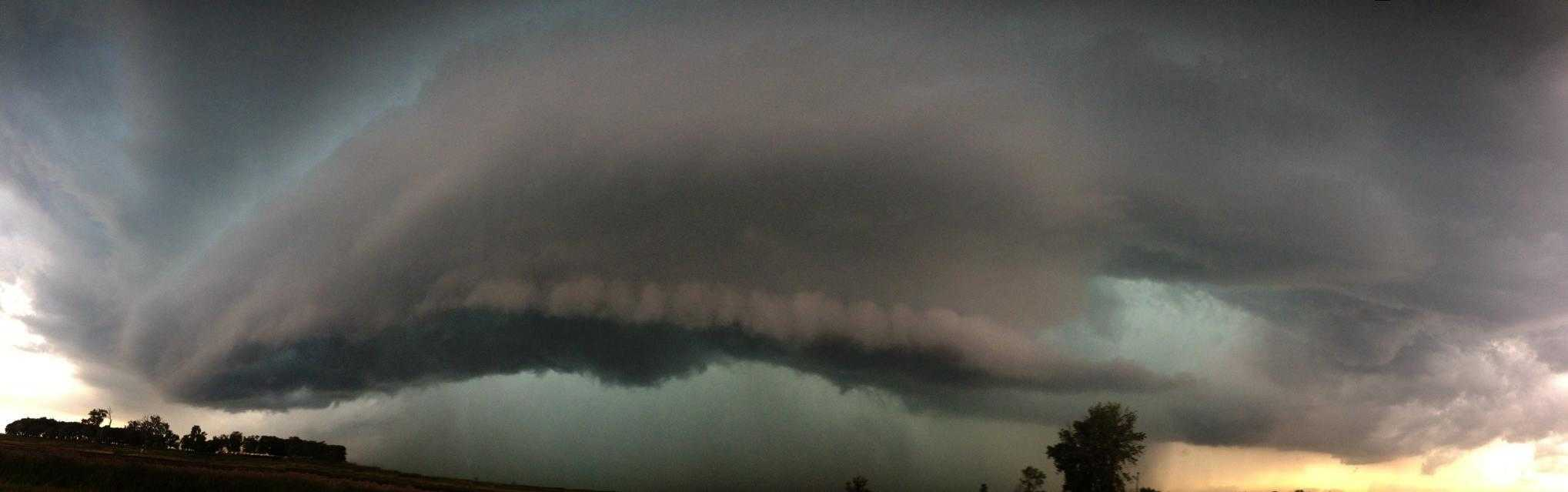 The first tornado-warned storm of the day in Minnesota today