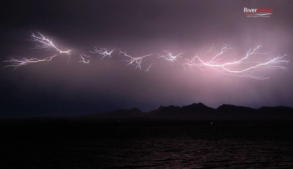 Monsoon storm lightning 6/29 Lake Havasu City, AZ. photo Jillian Danielson.