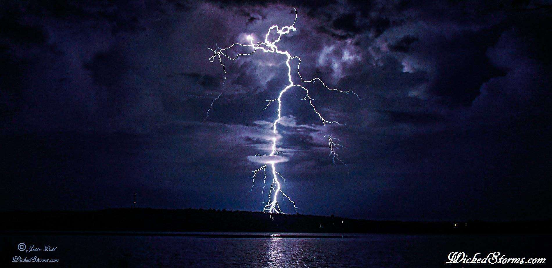 Many many years I've chased lightning...only tried to capture them with a camera for 2 or 3 years now tho. This is one of my favorites ....Amazing positive striker at the Lake Tenkiller reservoir near Tahlequah, OKL from 7-22-15