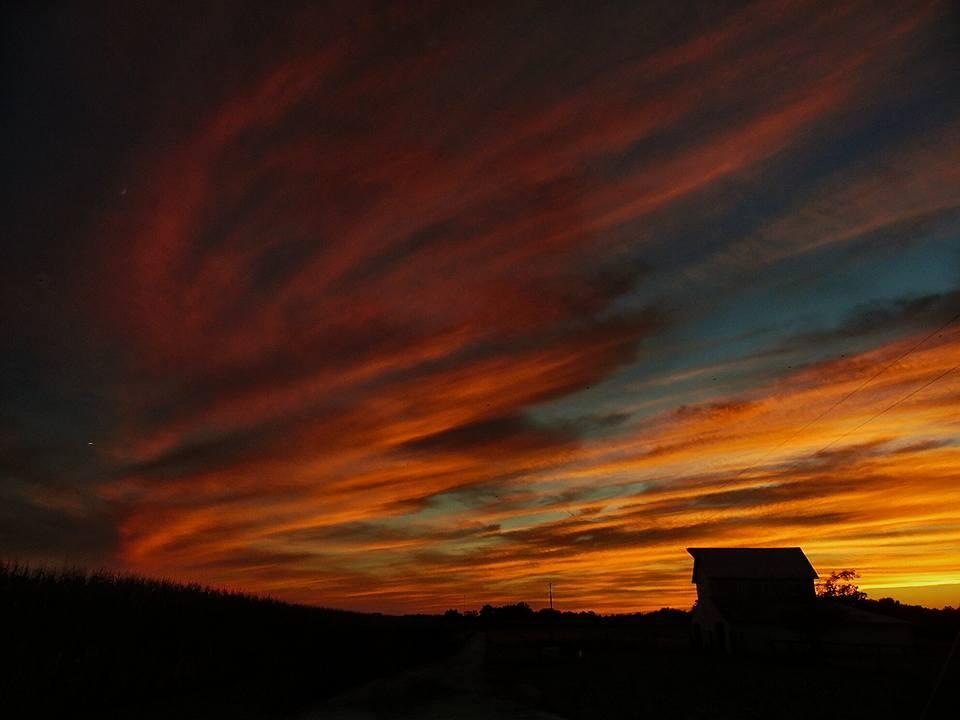 Sunset on our farm 7/22/15