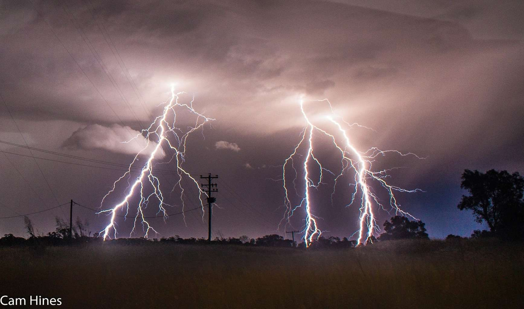 One discharge of lightning which picked out 3 chunks of soil to earth out in.. This photo was from February 26 this year in Wallumbilla, QLD Australia.