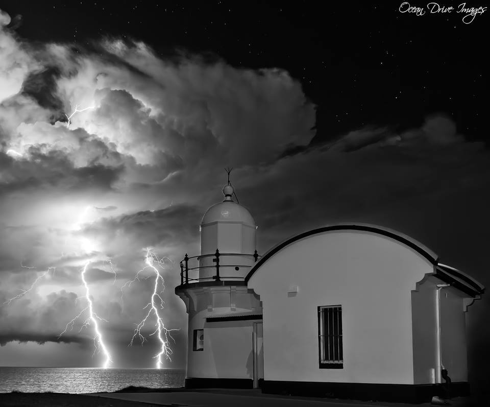 This was the second lightning shot i got on the same night(couldn't believe my luck) as my photo in the top 10 this week....A bit of black and white to mix it up a bit..
