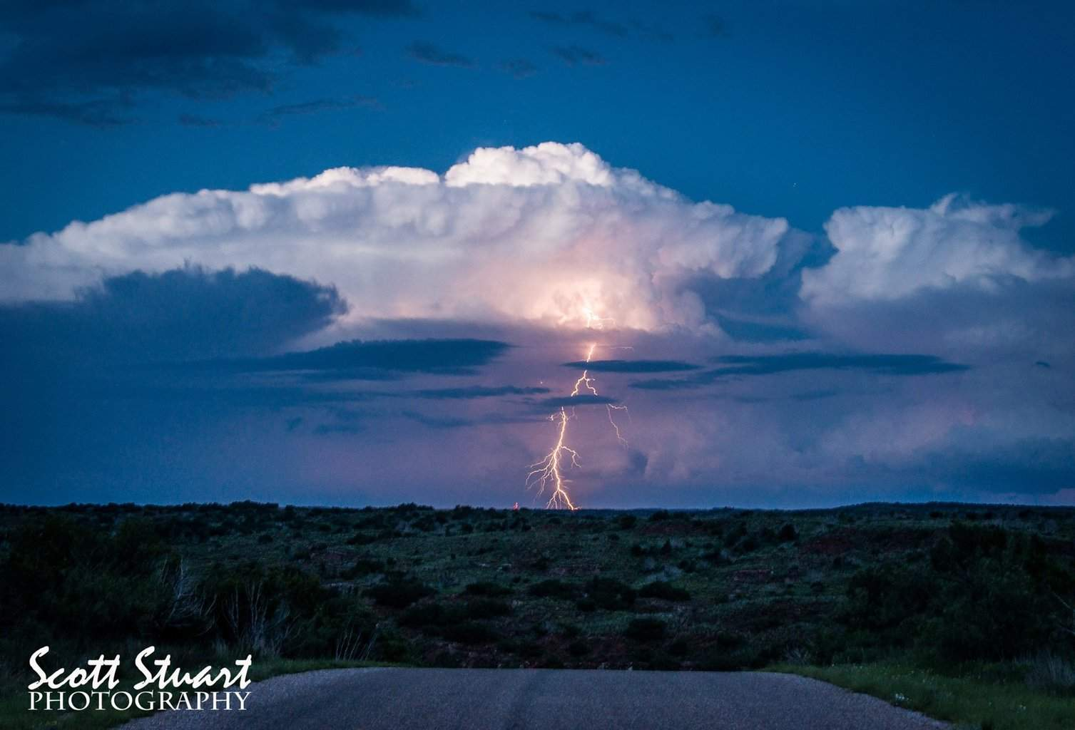 Evening thunderstorm at Caprock Canyons State Park, Texas.