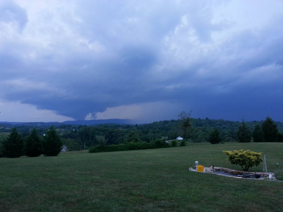 Nothing like walking outside and seeing this. Got a little excited until I realized its not a tornado. Lol