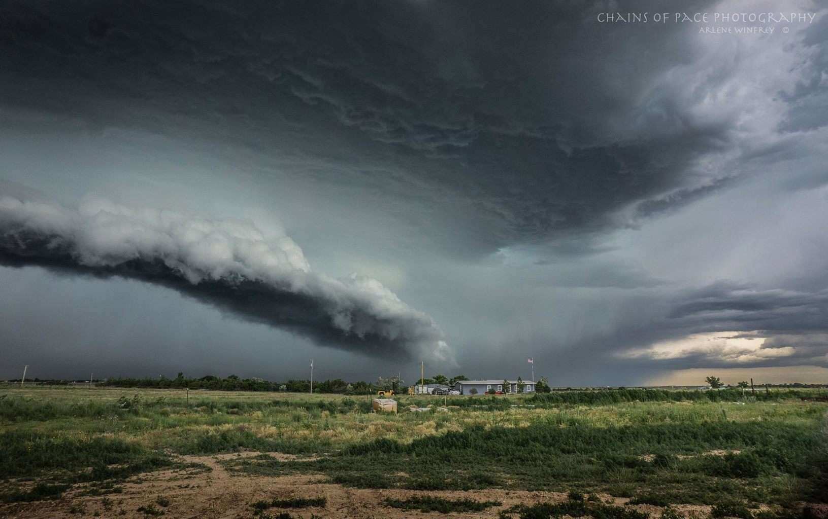 Massive storm in the Oklahoma panhandle near Guymon, taken 6-8-2015