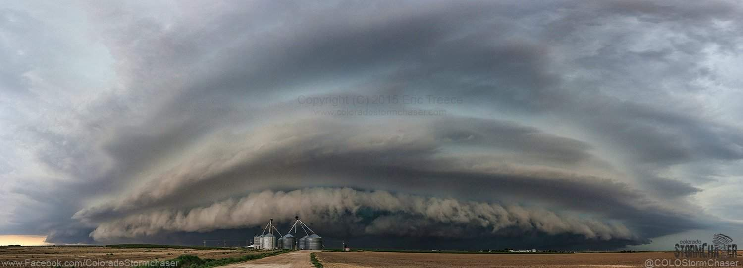 Awesome structure on this 20 image panorama of the Severe Warned storm yesterday somewhere between Tribune and Leoti, KS. Funny side note on this chase, I swear I heard an airplane ahead of this storm during nearly the entire chase.......I swear I am not going crazy!