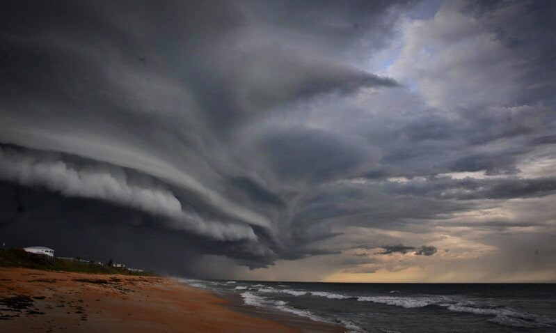 Punta Cana Dominican Republic. Awesome clouds associated with this storm.