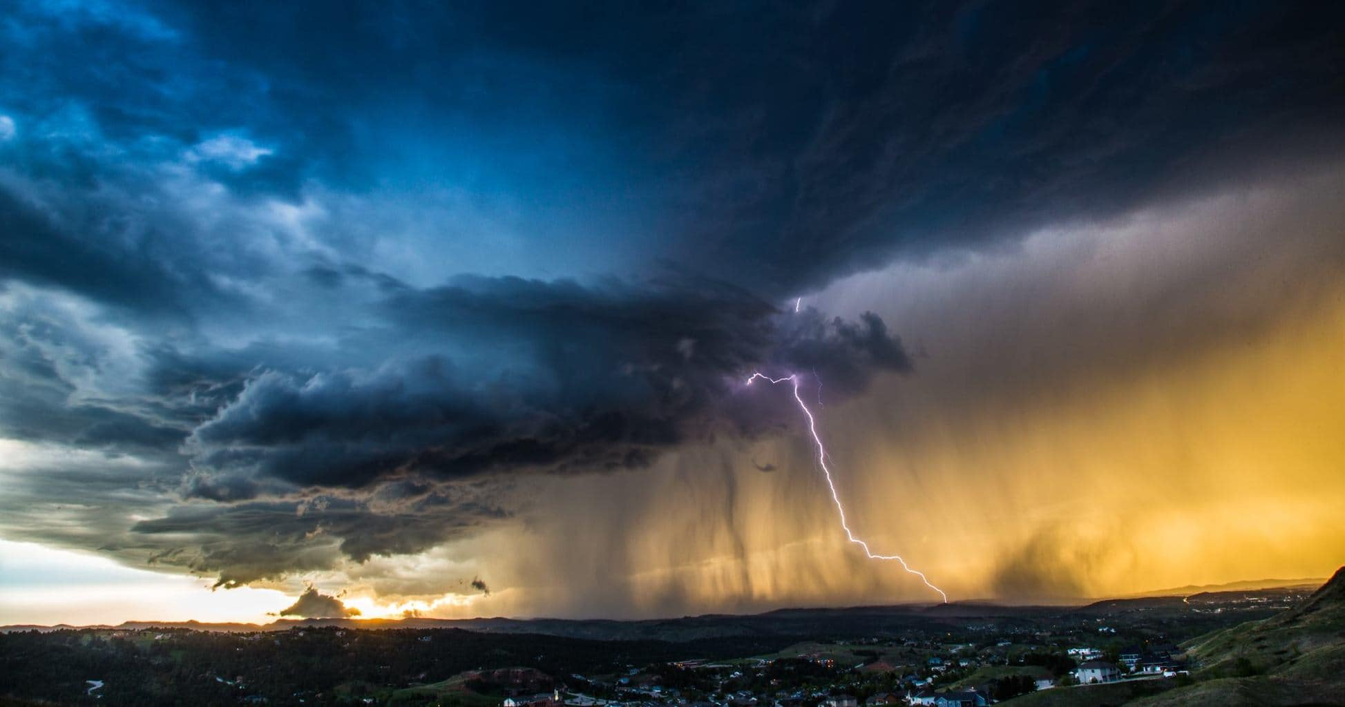Lightning over Rapid City, SD