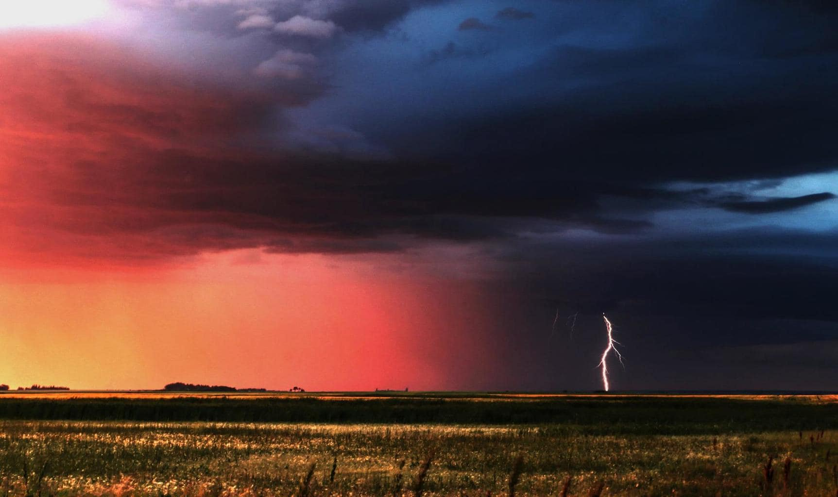 To me this was the almost perfect sunset then a bolt made and appearance to finalize the deal.