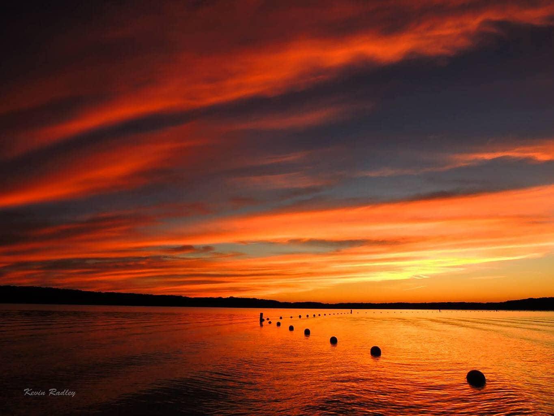 Sunset at Clinton lake beach, near Dewitt, IL this evening.
