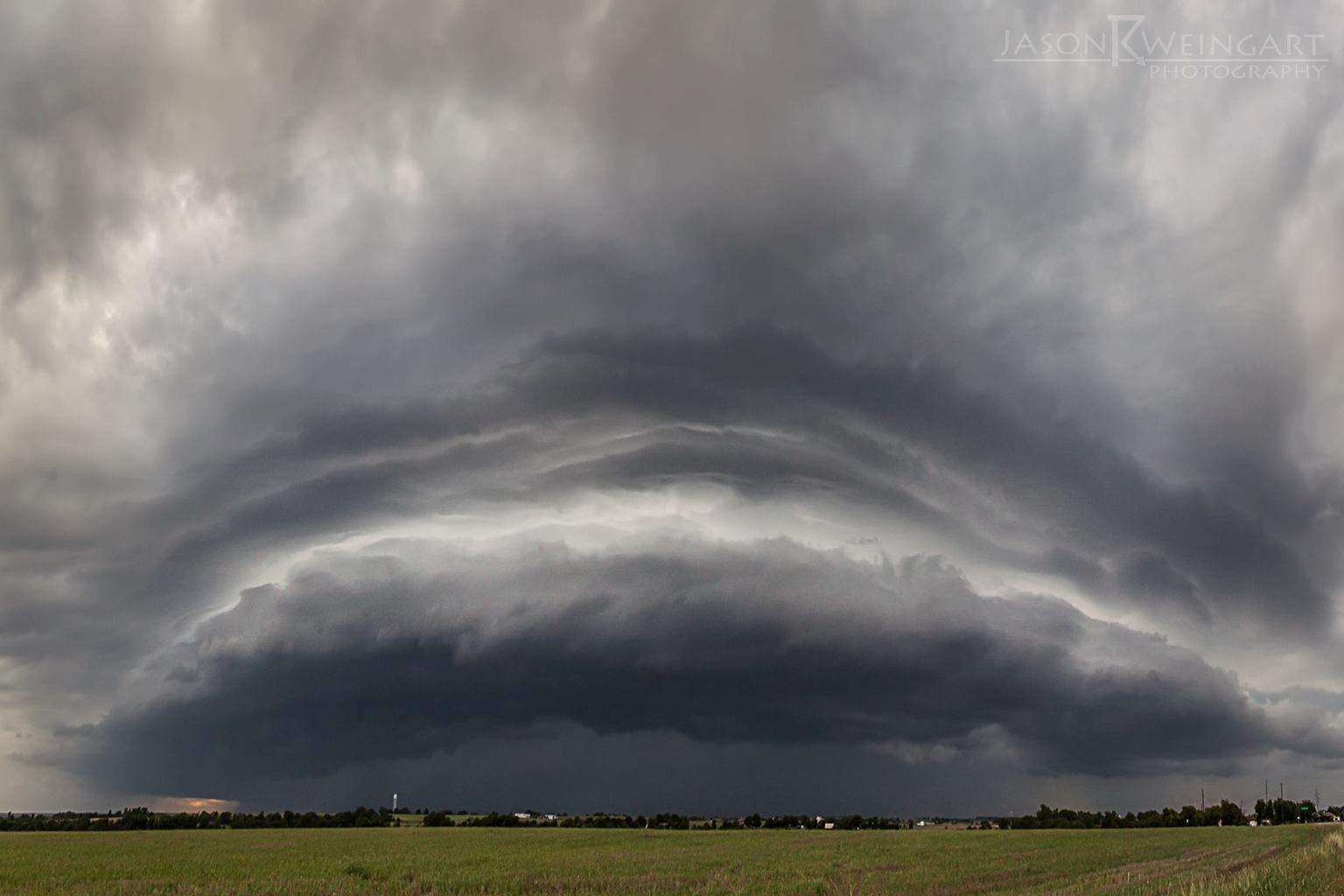 Five image panorama of a shelf cloud near Salado, Tx. 06.18.15 f/10.0 1/160th second ISO 200
