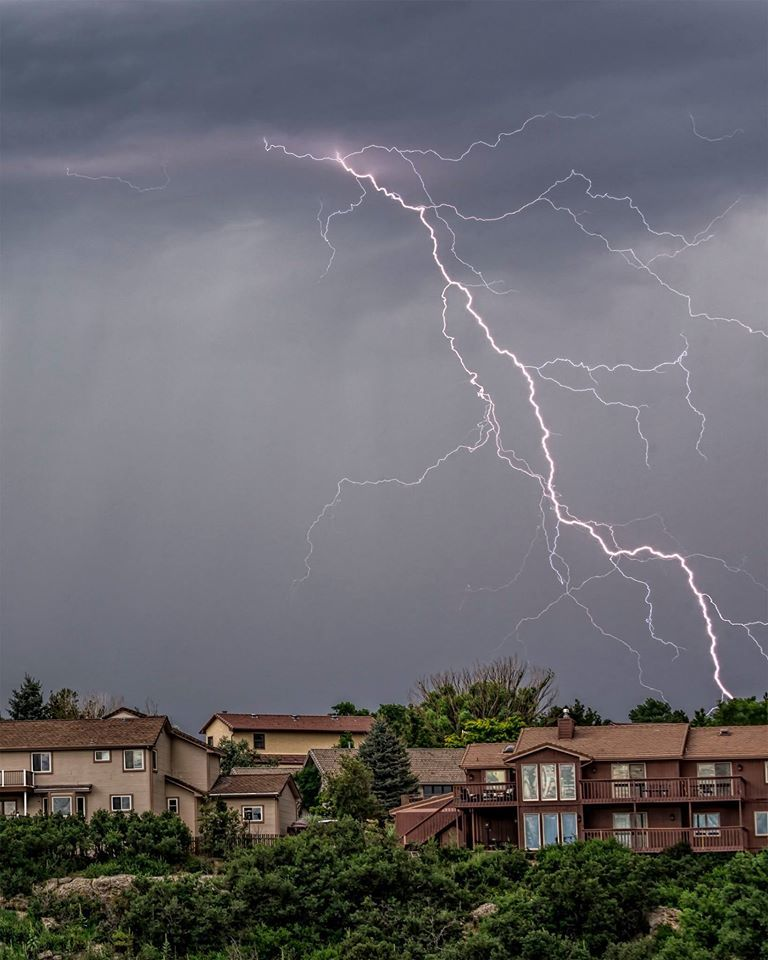 A busy lightning bolt in Colorado Springs.