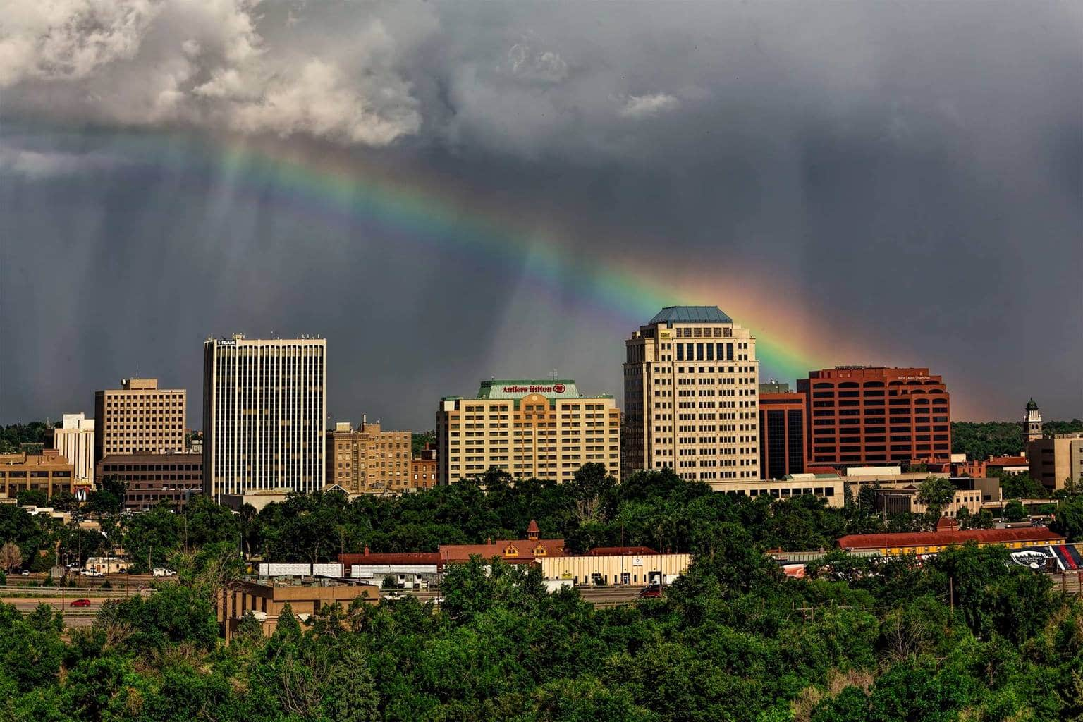 After the storm, a Colorado Springs rainbow.