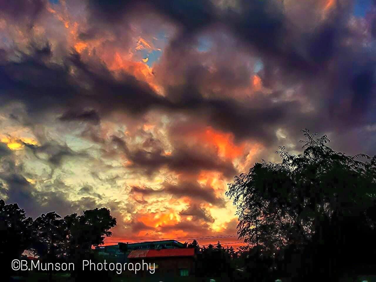 Fire sky in branson Missouri