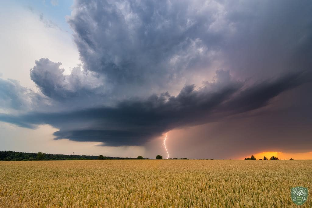 Supercell Outbreak in Germany  Yesterday my team and me experienced something never seen before, we chased three supercells on only one day. This is a thing which is realy rare in Germany and Europe. Hope you like the picture! I took by the north end of the Schwarzwald  (Black Forest)