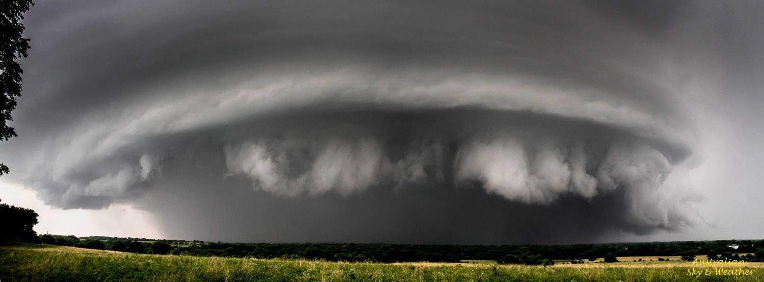 This was the second supercell we intercepted today forming on the NW quadrant of the first supercell. This image was taken north of East Lynne, Missouri and a tornado was reported at the time. The tornadic activity was completely rainwrapped. 1st July 2015