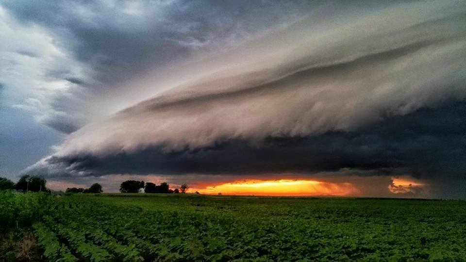 The Storm approaching last night in Greenfield, IL.