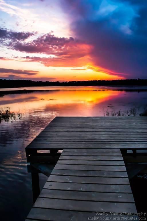 Dramatic Sunset on the Lake!