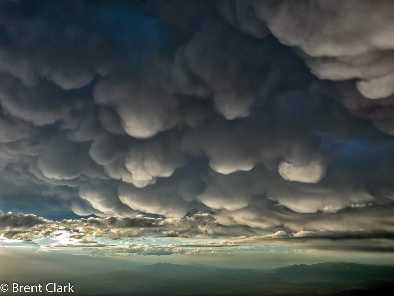 Mammatus Clouds - Taken last night near Delta, Utah
