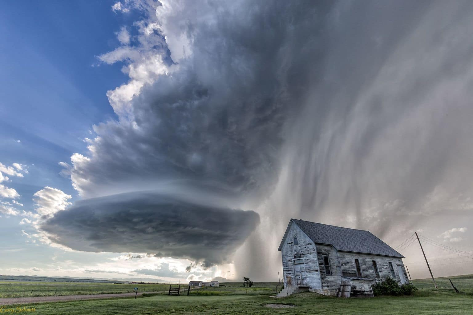 """This is """"Against the Storm """" shot SE of Rapid City ."""