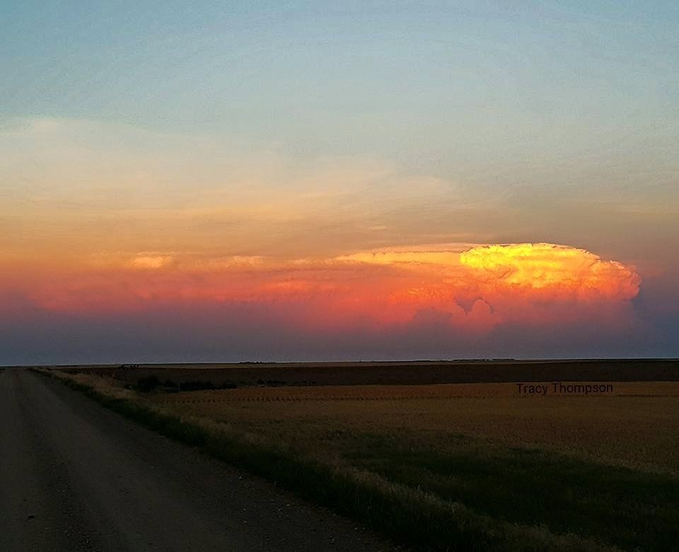 Sedgwick County Colorado looking to the east at sunset. 7-23-15.