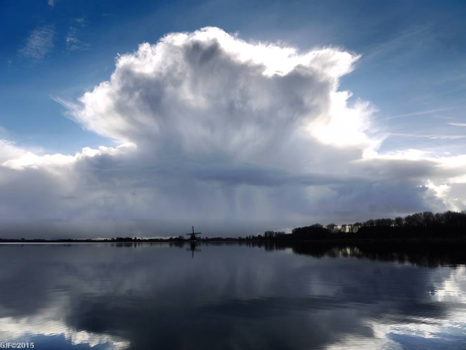 Couple of months ago when a storm passed our town near the lake. Netherlands (Europe)