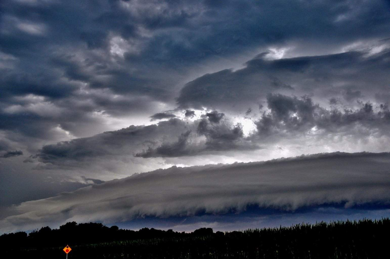 Mean clouds last night