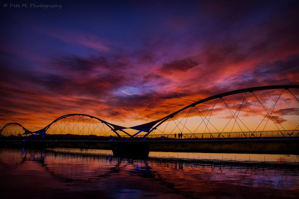 This may not be a storm photo or make it into the top ten, but instead I'm just reliving one of my favorite moments from Tempe, Arizona and I wanted to share it with everyone here. I like many of you enjoy chasing storms, but I also enjoy chasing sunrises and sunsets! This sunset photo was taken in early 2014 down at Tempe Town Lake. By far one of my favorite locations to shoot in the city. ~Pete