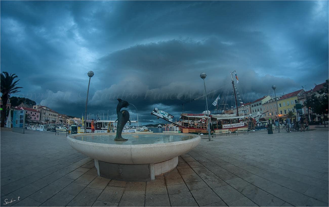 Photogenic shelf cloud... 26.7.2015. Lošinj / Croatia