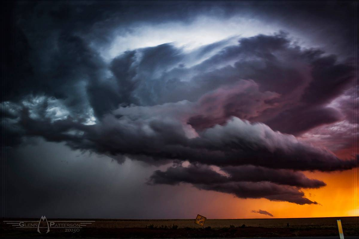 Moody Sunset Shot of a Storm North of Elmer Oklahoma on June 29th 2015. ISO 100 f/6.3 for 4 Seconds. Enjoy