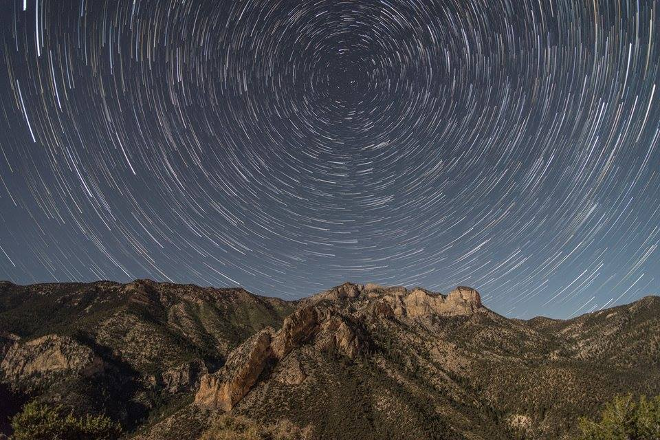 This was my first ever attempt at star trails. Taken near Las Vegas.