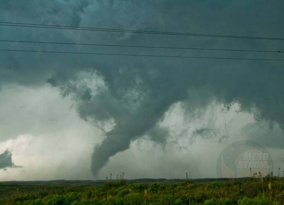 The May 27th 2015 Canadian, Tx tornado entering the rope-out phase.