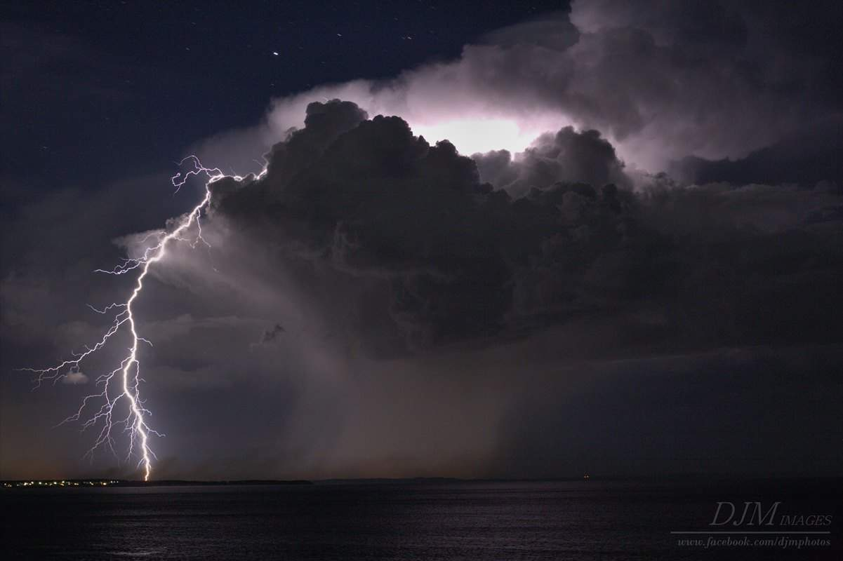 Some lovely storm action off the coast off NSW Australia last night