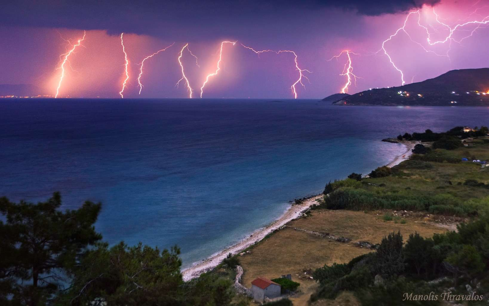 Lightning Barrage over Samos Island in Greece after a MCS passed over a few days ago! I hope you enjoy it people as much as I do when I was shooting it!!