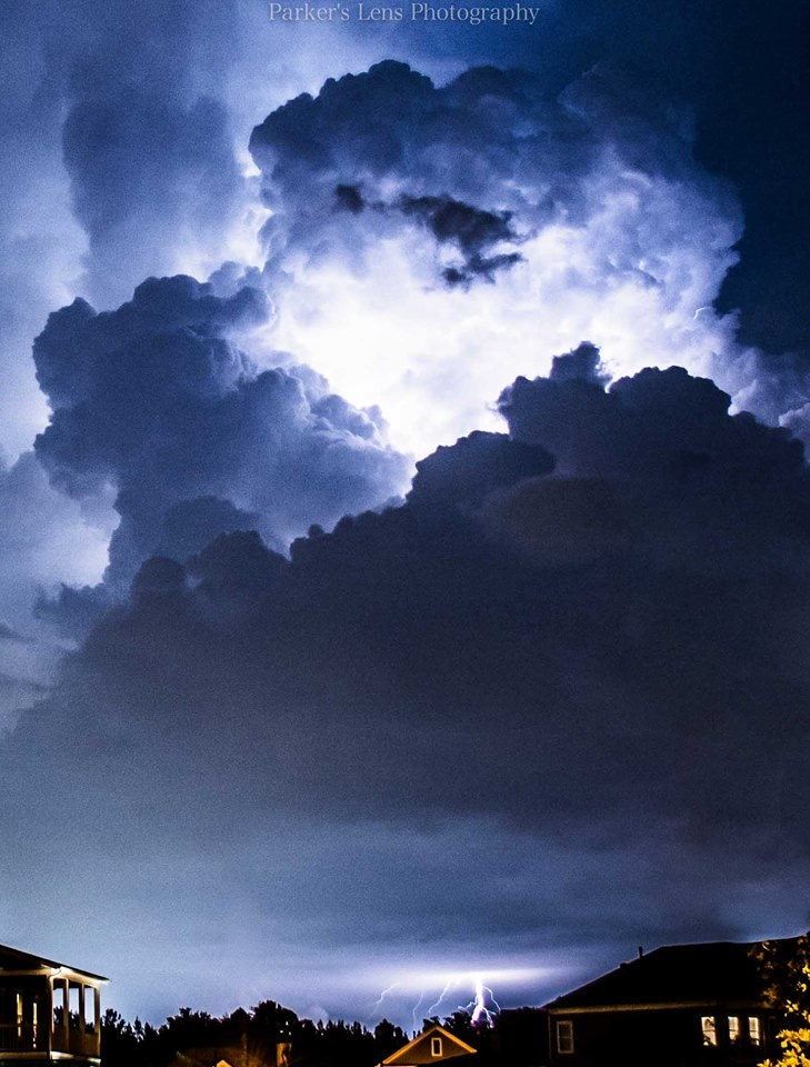 A massive cloud to ground lightning strike over Helena, Alabama! Time to head for cover after this one
