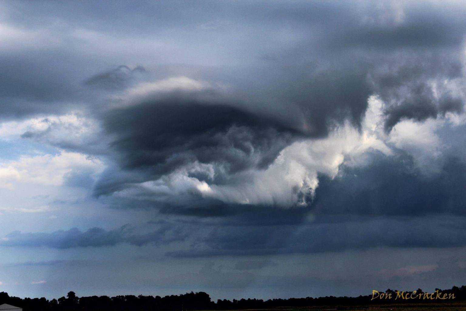 Back side of a storm just south of Marshall, MI on 9/5/2015