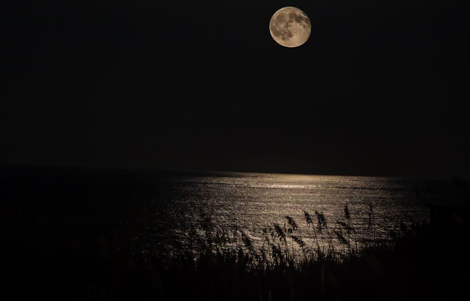 Moonrise in Nags Head, NC on August 1st, 2015.